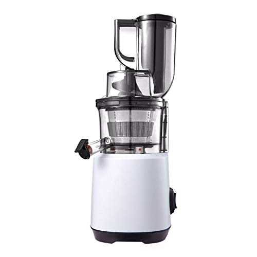 Cookhouse Compact Cold Press Slow Juicer - Masticating Whole Food Juice Extractor - Wide Chamber, Easy Clean, Specialised Motor for Maximum Nutrition & Pulp Extraction of Fruit & Vegetable Juice