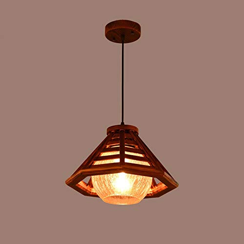 Lámpara Colgante de luz Simple? Japonesa? Una Sola Cabeza? Madera Maciza? Balcón? Sudeste asiático? Restaurante? Lámpara, 34 * 28 cm