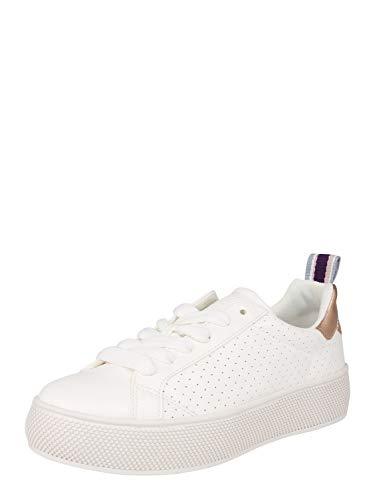 ESPRIT Plateau-Sneaker in Leder-Optik
