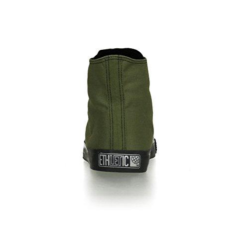 Ethletic Black Cap HiCut / High-Sneaker aus Bio-Baumwolle – grün / schwarz – fair & nachhaltig - 4