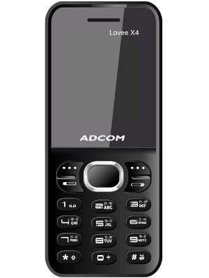 Adcom X4 Dual Sim Mobile Phone with 1.3MP Camera (Black & Blue)
