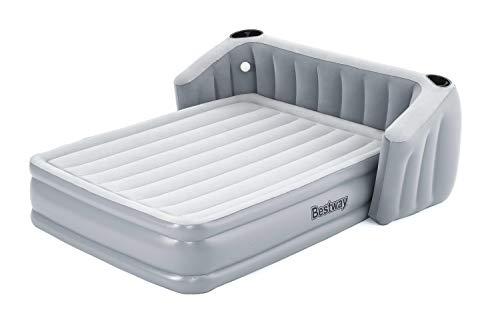 Bestway Collada Doppelbett, Luftbett selbstaufblasend mit eingebauter Elektropumpe, 233x196x80 cm