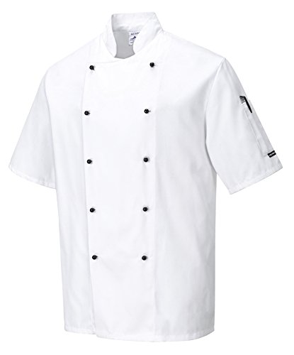portwest-c734whrl-kent-chefs-jacket-regular-large-white