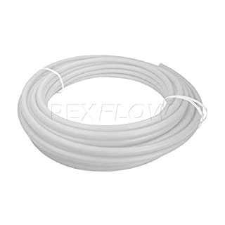 Pexflow PEX Potable Water Tubing - PFW-W1300 1 Inch X 300 Feet Tube Coil for Non-Barrier PEX-B Residential & Commercial Hot & Cold Water Plumbing Application (White)