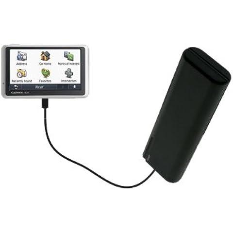 Caricabatterie con stilo AA portatile di Gomadic compatibile con Garmin