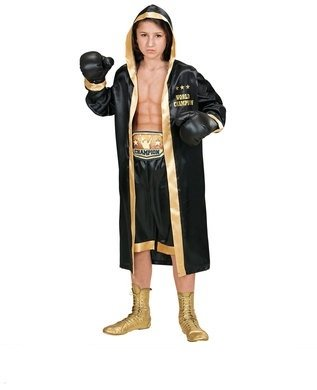 Boxer - Kinder Kostüm - Mittel - Alter 8-10 -140cm (Alte Boxer-shorts)