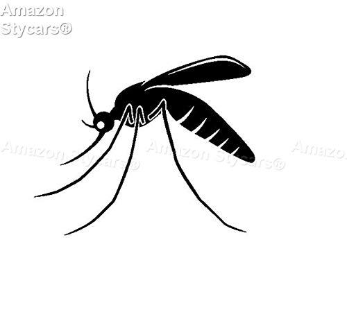 Preisvergleich Produktbild Stycars® Car Stickers,  [14.7Cm*11.9Cm] ''Minimalist Mosquito Shadow Delicaute Ce'' Decal Vinyl Car / Window Stickers