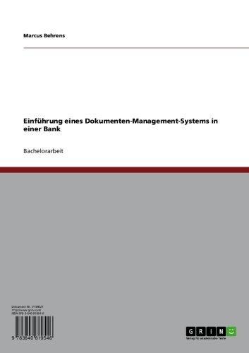 Einführung eines Dokumenten-Management-Systems in einer Bank