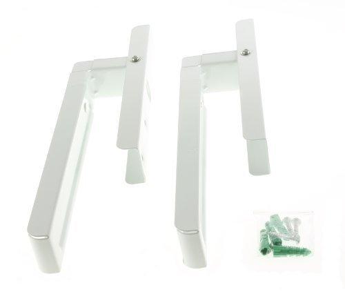 First4spares – Soportes de Montaje de Pared Extensible Universal para todas las marcas y modelos de microondas (blancos)