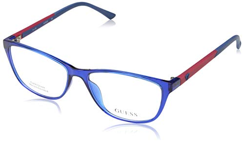 Guess Damen Brille Gu2497 090 55 Brillengestelle, Blau,