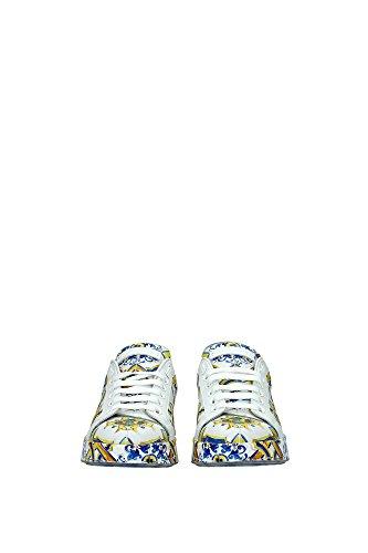 CK0064AB2788K807 Dolce&Gabbana Sneakers Femme Cuir Multicouleur Multicouleur