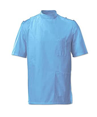 "Alexandra Workwear Tunic G91 - Size: 34.5"" / 88cm (pale grey and navy out of stock) - Color: pale blue"