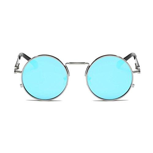 c698b3b4c8fcf7 URSING Eyewear Sonnenbrille Runde Hippie Schattierungen Retro Farbige Linsen  Runde Spiegelglas.