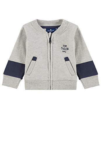 TOM TAILOR Kids Baby-Jungen Placed Print Sweatshirt, Grau (Vapor Blue Melange 8240), Herstellergröße: 86