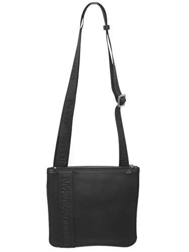 EMPORIO ARMANI Debossed Logo Homme Cross Body Bag Noir