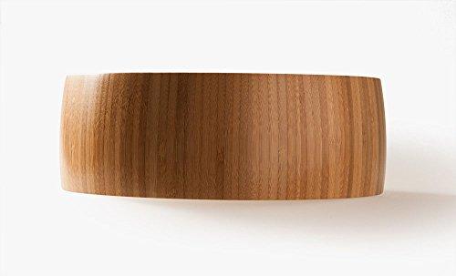Atractivo Cuenco Frutero de bambú, 26cm x 26cm x 9cm, 680g