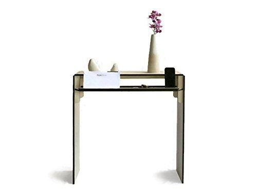 Kleiner Konsolentisch aus Holz mit Regalablage für den Eingangsbereich, 20 verfügbare Farben als Wenge, Aus Pappelsperrholz, Flatpack-Möbel, Einzigartiges Design der Tische des italienischen Designers