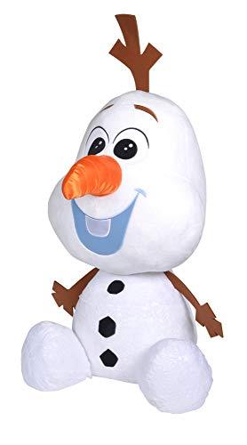 Simba - Disney Frozen 2, Riesen-Olaf, 100cm, Schneemann, weicher Plüsch, mit Schneeflocken-Print, limitiert, für Kinder ab 0 Jahren