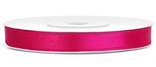 25m x 6mm Rolle Satinband Geschenkband Schleifenband Dekoband Satin Band Antennenband (Pink (006))