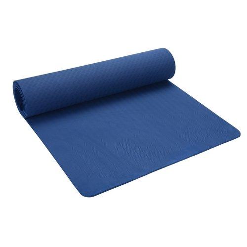 LERMX Estera de TPE para Yoga, Pilates, antideslizante/ecológica sin olor/resistente a la rotura, no tóxico, óptimo agarre, impermeable, estera de yoga de 6mm de grosor certificado SGS