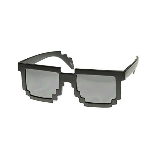 8 Bit Pixel Sonnenbrille Schwarz