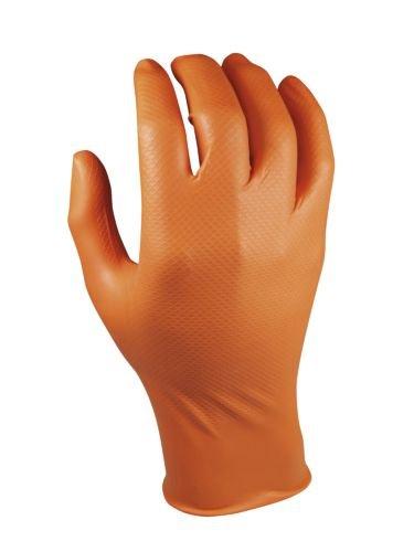 Preisvergleich Produktbild Juba Nitril Handschuh gripazz beidhändig Orange l-10u