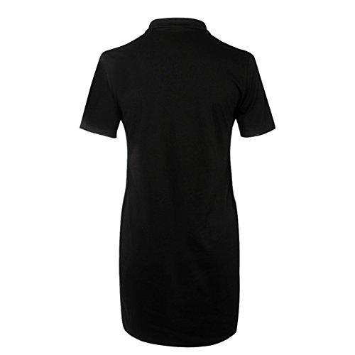 ROPALIA Femmes Mini Robe de T-Shirt Imprimé Manches Courtes 02 Gris