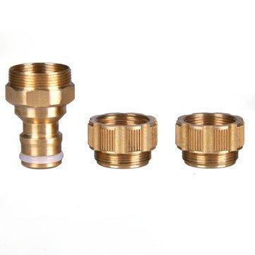 1/5,1 cm Laiton universel robinet d'eau Raccord de tuyau Raccord de robinet ^.