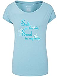 Mountain Warehouse Sand in Your Hair Womens Tee - Lightweight Summer Top, Breathable, Quick Wicking Tshirt, Quality Print Tee Shirt -for Travelling, Walking, Running