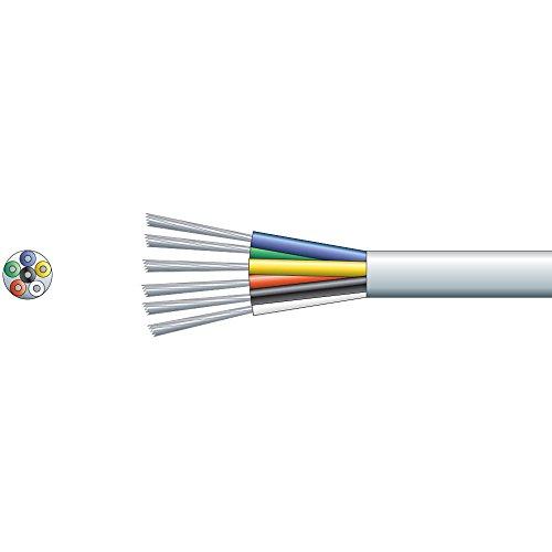bianco-6-core-5m-metro-di-allarme-24awg-cavo-di-legare-gauge-rame-stagnato-conduttori-conductor-022-