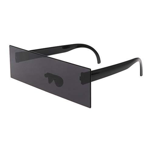 Shaoyanger Sonnenbrille, Mosaik-Optik, rechteckig, für Fotografie, Party, Cosplay, lustige Brille, Schwarz