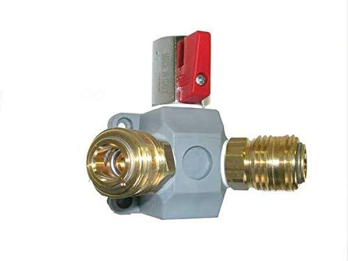 KDT Druckluftverteiler EVA 15-2, 2-fach Druckluft Wanddose Kunststoff Mini-Kugelhahn Schnellkupplungen NW 7,2 mm, G 1/2 i - Druckluft Verteiler