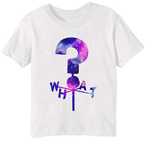 Das Geheimnis Hütte Frage Kennzeichen Wetterfahne Kinder Unisex Jungen Mädchen T-Shirt Rundhals Weiß Kurzarm Größe L Kids Boys Girls White Large Size L