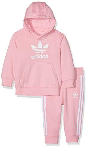 Jungen Hoodie-set (adidas Baby Trefoil Hoodie-Set, Light Pink/White, 104)