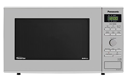 Panasonic NN-GD37HSBPQ Inverter Microwave Oven with Grill, 23 Litre, 1000 W, Stainless Steel