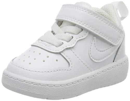 Nike Court Borough Low 2, Bebé Unisex, Blanco White/White/White 100, 19.5 EU