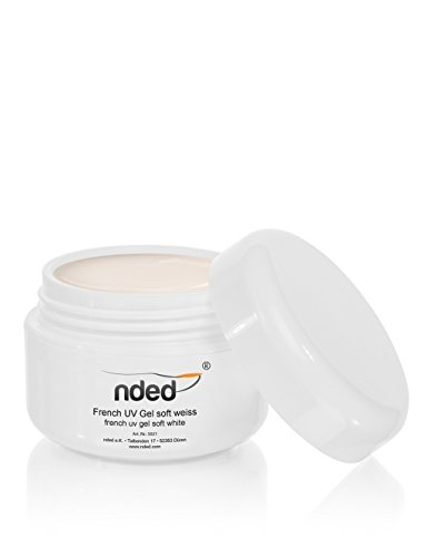 Gel UV French, Blanc, NDED 5 ml, moyenne viscosité, adapté UV, sans acide