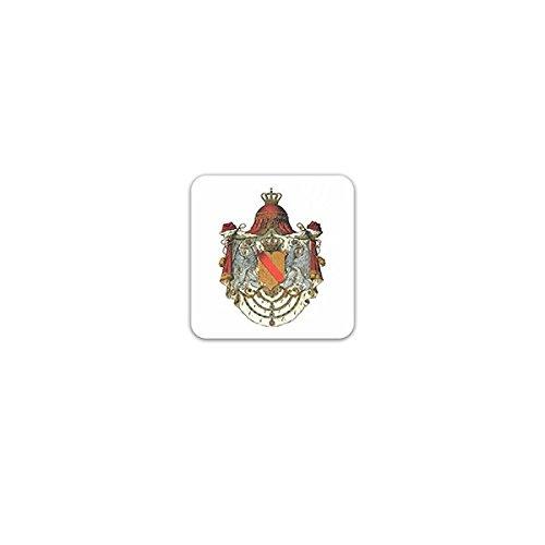 Copytec Aufkleber/Sticker -Grossherzogtum Baden Wappen Karlsruhe Monarchie Haus Baden Souveräner Staat Großherzog Deutscher Bund Emblem 7x7cm #A3271