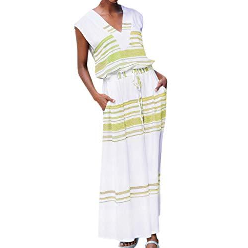 Tyoby Hipster Schnürung Ärmellos Blusen Kleid Damen Streifen Drucken Freizeit Panzer Rock Natürliche Einfachheit Bequemes Klamotten - Einfachheit Kostüm Kleid Muster