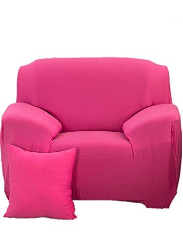 Honeyhome Schutzbezug für Sofa/Sessel-Bezug, elastisch, weich, Polyester, Größe 1 Platz (90bis 140cm), Polyester, Rose, Une place