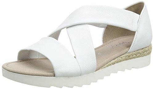 Gabor Shoes 62.711, Sandali Donna Bianco (Weiss Jute)