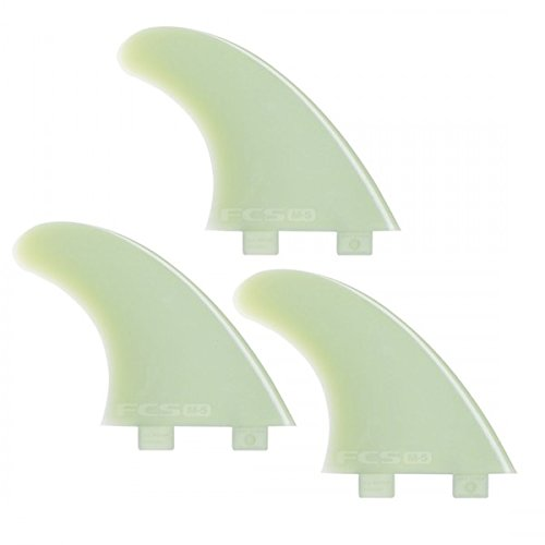 Surfboard Finnen Set FCS M7 natural glass composite Tri Fin Thruster