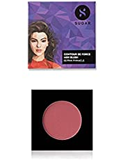 SUGAR Cosmetics Contour De Force Mini Blush - 02 Pink Pinnacle (Deep Rose) | Long - Lasting | Minimal Effort Required For Smooth Skin