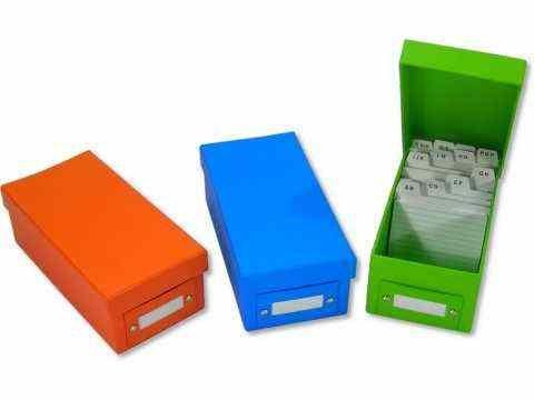 Lernbox Karteikasten DIN A8 blau + 400 Karteikarten