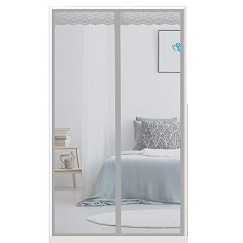QDR Magnet Fliegengitter, Moskitonetz für Türen Kinder und Haustiere der Automatischen Schließung der Bildschirm Fenster Netze ohne Bohren Balkontür Wohnzimmer Schiebetür,140x220cm(55x87inch)