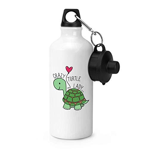 Gift Base Verrückte Schildkröte Damen Sport Flasche