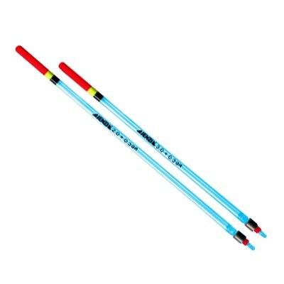 Vorgebleite Clear Laufpose, transparent, top in Leuchtfarbe 3+0,3G, Länge / Tragkraft: 20 cm / 3+0,3 g