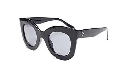 WDDYYBF Sonnenbrillen, Mode Sonnenbrille Frauen Vintage Sonnenbrillen Weiblichen Schattierungen Big Frame Stil Brillen Uv400 Schwarz Matt