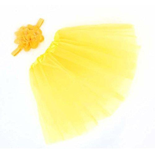 fotografía de la flor,Vovotrade falda de bebé + Venda (Amarillo)