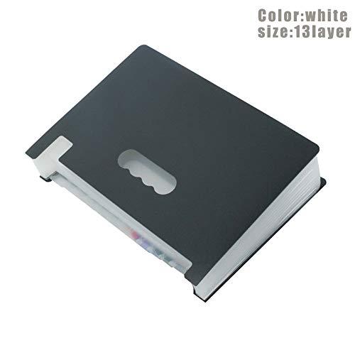 PerGrate 13/24 Pockets erweitern Dateiordner funktioniert Accordion Office A4 Document Organizer -